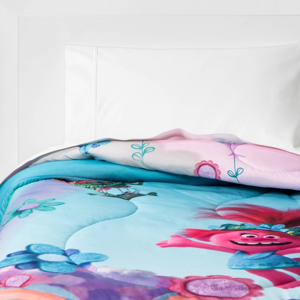 Image of Trolls 2 World Tour Twin Color Your World Comforter Set