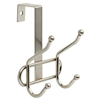 Over The Door Double Decorative Hook Rack Nickel - Room Essentials™