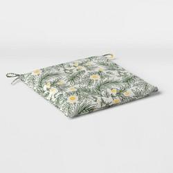 Spring Floral Outdoor Seat Cushion DuraSeason Fabric™ Green - Opalhouse™