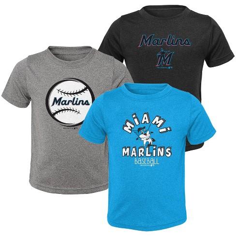 MLB Miami Marlins Toddler Boys' Gray T-Shirt 3pk - image 1 of 4