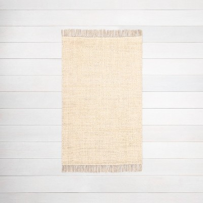 3'x5' Bleached Jute Rug with Fringe - Hearth & Hand™ with Magnolia