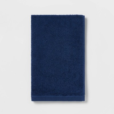 Everyday Solid Hand Towel Navy Blue - Room Essentials™