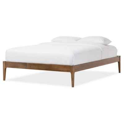 Bentley Mid - Century Modern Solid Wood Bed Frame - Baxton Studio