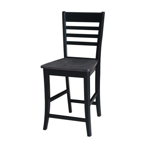 "24"" Cosmo Ladder Back Counterheight Stool Coal - International Concepts - image 1 of 6"