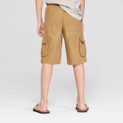 93d32ce697 Boys' Pull-On Cargo Shorts - Cat & Jack™ Brown XL Husky : Target