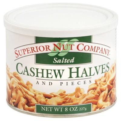 Superior Nut Salted Cashew Halves - 8oz - 12 ct