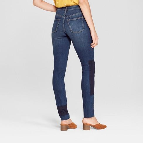 5f763cab53d Women s High-Rise Patchwork Skinny Jeans - Universal Thread™ Dark Wash    Target