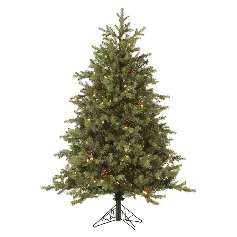 6ft Pre-Lit Artificial Christmas Tree Full Mountain Pine - Clear Lights - image 1 of 1