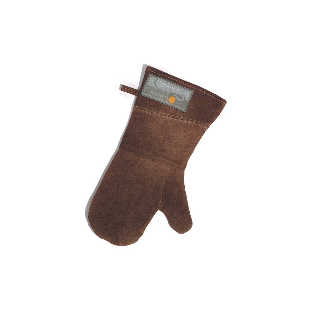 "Image of ""15"""" Leather Grill Mitt Brown - Outset"""