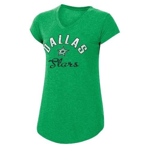 NHL Dallas Stars Women's Team Pride V-Neck T-Shirt - S - image 1 of 2