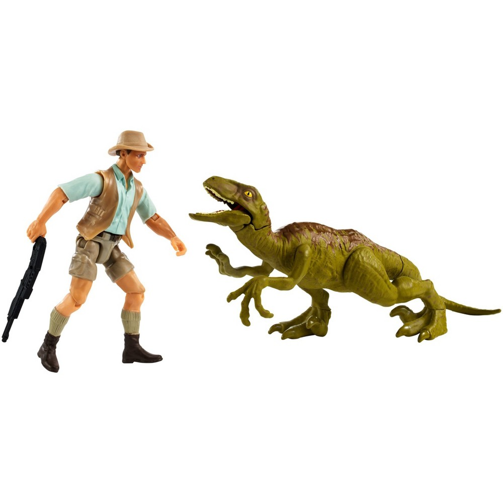Jurassic World Legacy Collection Story Pack Robert Muldoon & Velociraptor