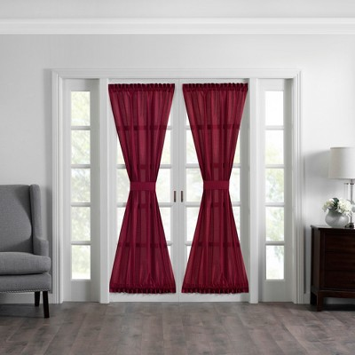 """Colette Faux Silk French Door Window Panel - 54"""" x 72"""" - Elrene Home Fashions"""