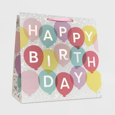 """Happy Birthday"" Balloon Girls Large Gift Bag - Spritz™"