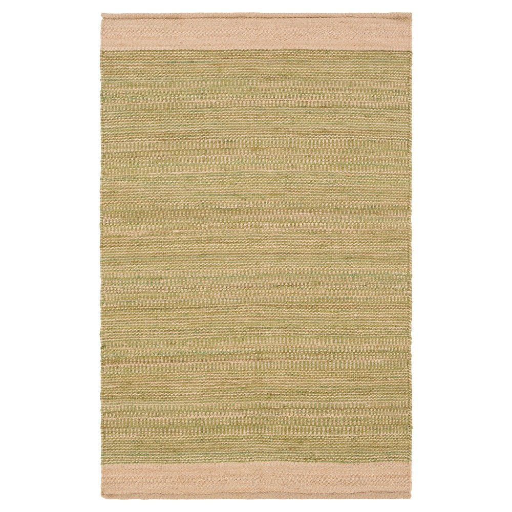 Grass Green Stripes Woven Accent Rug - (4'X6') - Surya