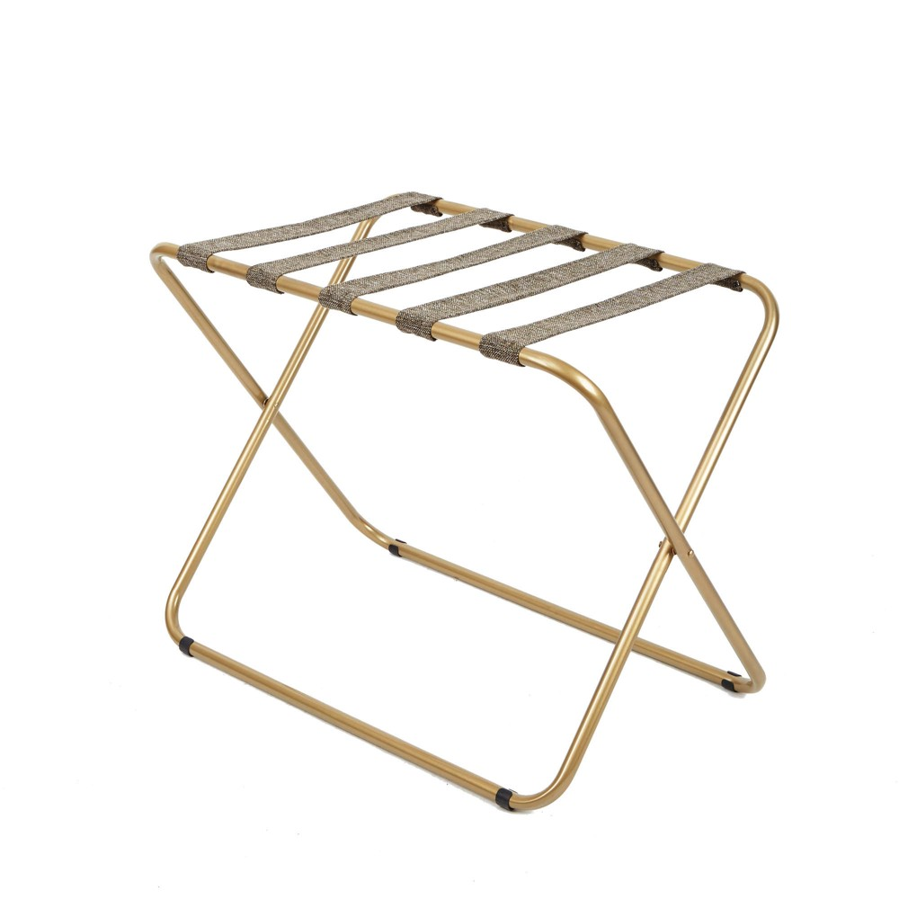 Rhys Metal Luggage Rack In Gold - Silverwood