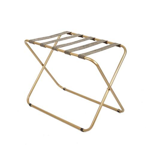 Rhys Metal Luggage Rack In Gold - Silverwood - image 1 of 4