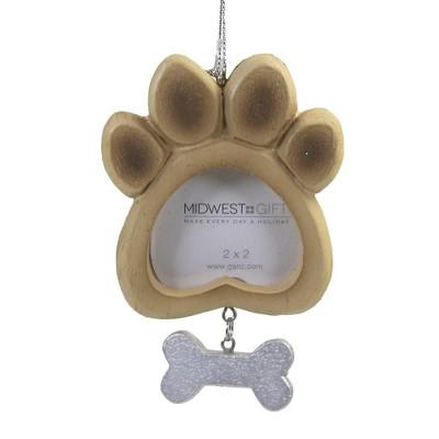 "Holiday Ornament 4.75"" Dog/Cat Frame Ornament Photo Pet Christmas  -  Tree Ornaments"