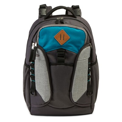 Jeep Adventurers Backpack Diaper Bag - Gray/Teal
