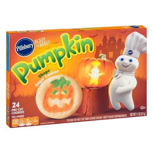 Pillsbury Ready To Bake Pumpkin Shape Sugar Cookies 24ct 11oz