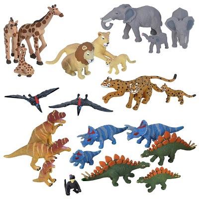 Wild Republic Nature Tube Dinosaurs and Wildlife Set