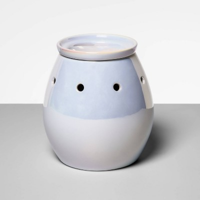 "5.2"" x 5.2"" Stoneware Iridescent Wax Warmer White - Opalhouse™"