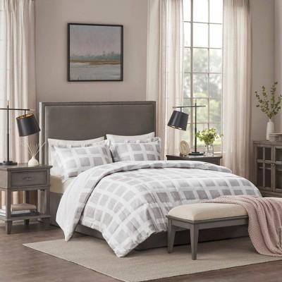 King Mills Plush Comforter Set - Gray