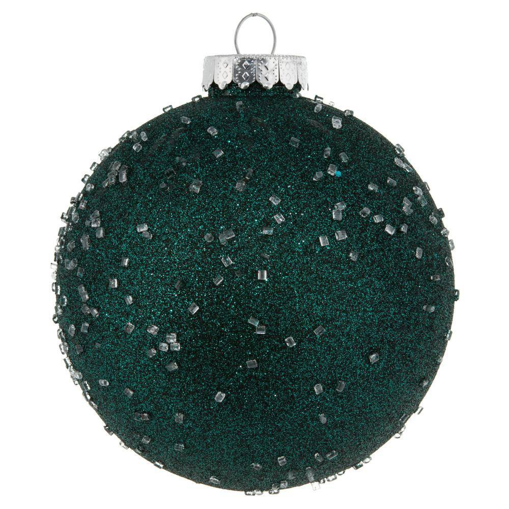 "Image of ""4ct Vickerman 6"""" Ornament Ball Sea Blue Ice"""