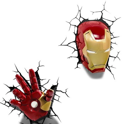The Avengers 3D Wall Art Night LED Light Collection - Iron Man : Target