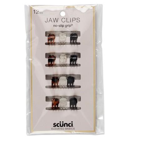 Conair Scunci Micro Mini No Slip Jaw Clips - 12pk - image 1 of 3