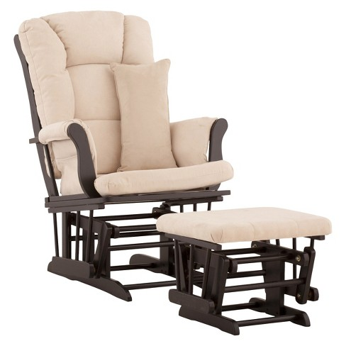 Stork Craft Tuscany Black Glider and Ottoman - Beige - image 1 of 1