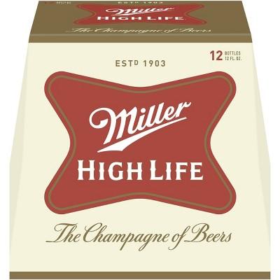 Miller High Life Beer - 12pk/12 fl oz Bottles