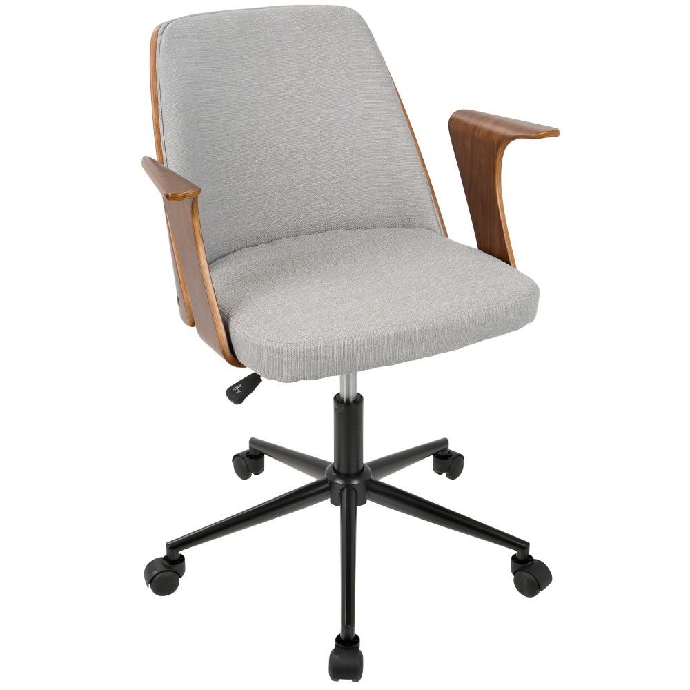 Verdana Mid Century Modern Office Chair Walnut/ Gray - Lumisource