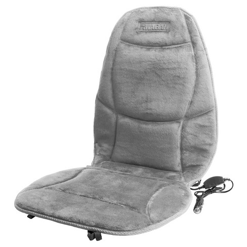 Wagan Soft Velour 12V Heated Seat Cushion - Gray - image 1 of 5