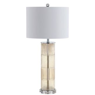 30u0022 Genevieve Glass/Crystal LED Table Lamp Champagne (Includes Energy Efficient Light Bulb) - JONATHAN Y