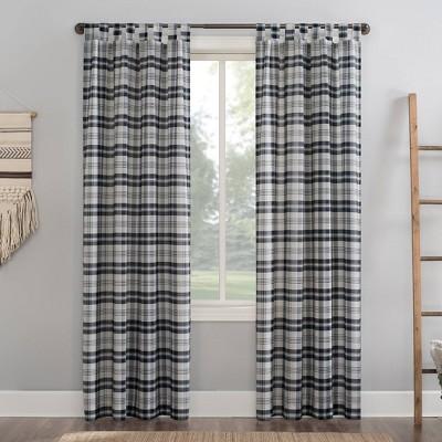 Blair Farmhouse Plaid Semi - Sheer Tab Top Curtain Panel - No. 918