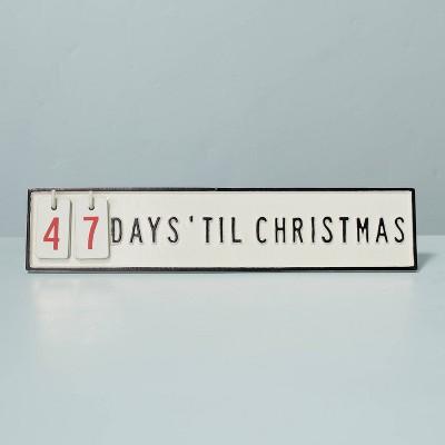 Christmas Countdown Seasonal Sign Black/Cream - Hearth & Hand™ with Magnolia