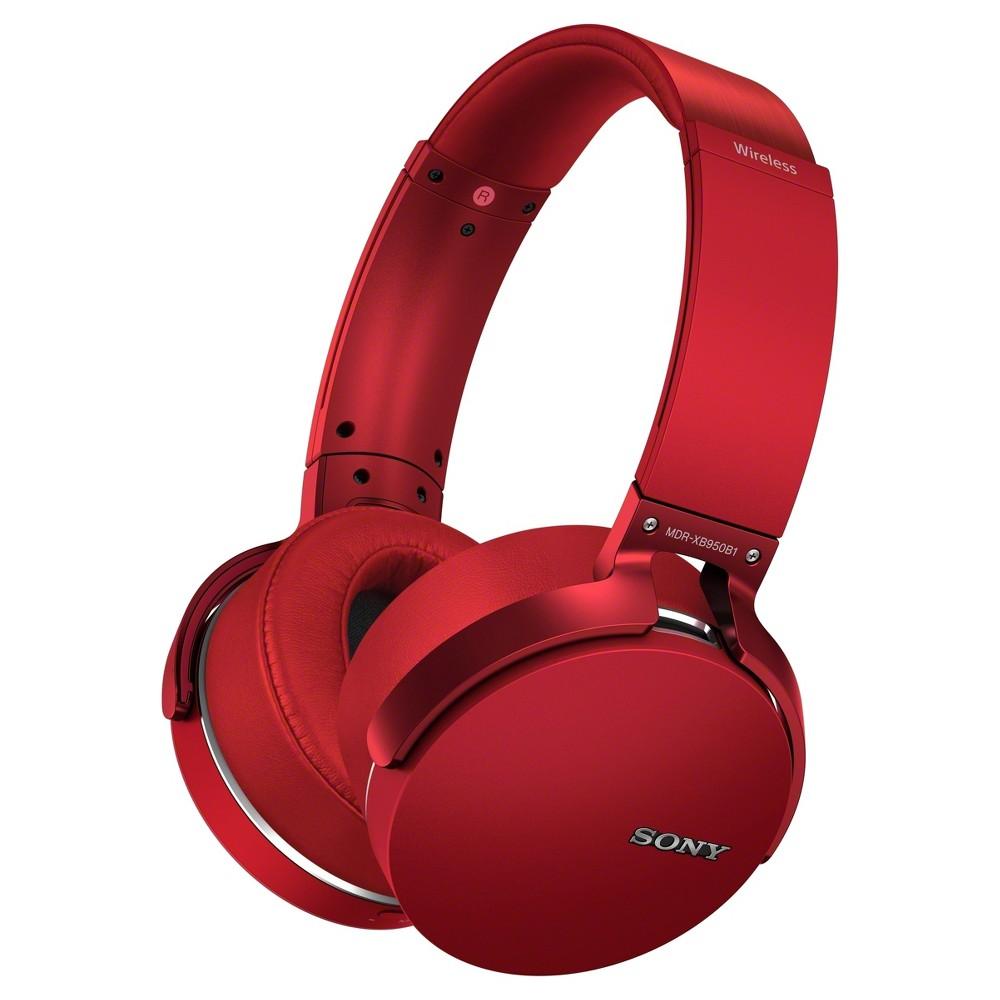 Sony MDRXB950B1/R Extra Bass Wireless Around-The-Ear Headphones - Red