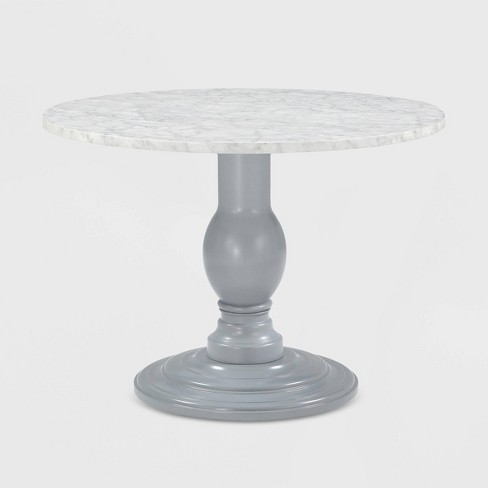 Waverly Faux Marble Pedestal Dining Table Gray - CosmoLiving by Cosmopolitan - image 1 of 7