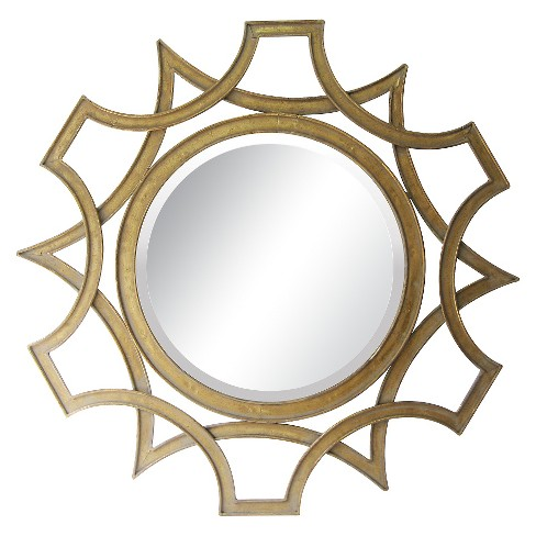 Sunburst Decorative Wall Mirror Gold - Lazy Susan - image 1 of 2
