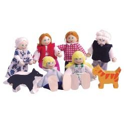 Bigjigs Toys Wooden Doll Family Set