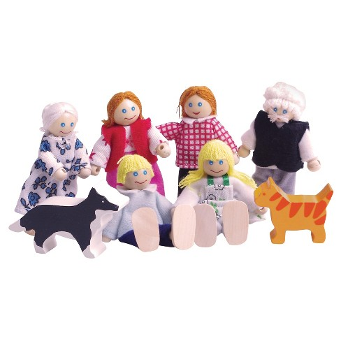 Bigjigs Toys Wooden Doll Family Set - image 1 of 1