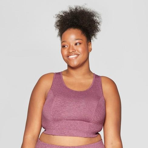 f45fc1f31e7ce7 Women s Plus Size Performance Long Line Mini Striped Sports Bra - JoyLab™