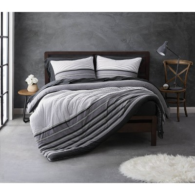 Sean John Knit Stripe Jersey Duvet Set