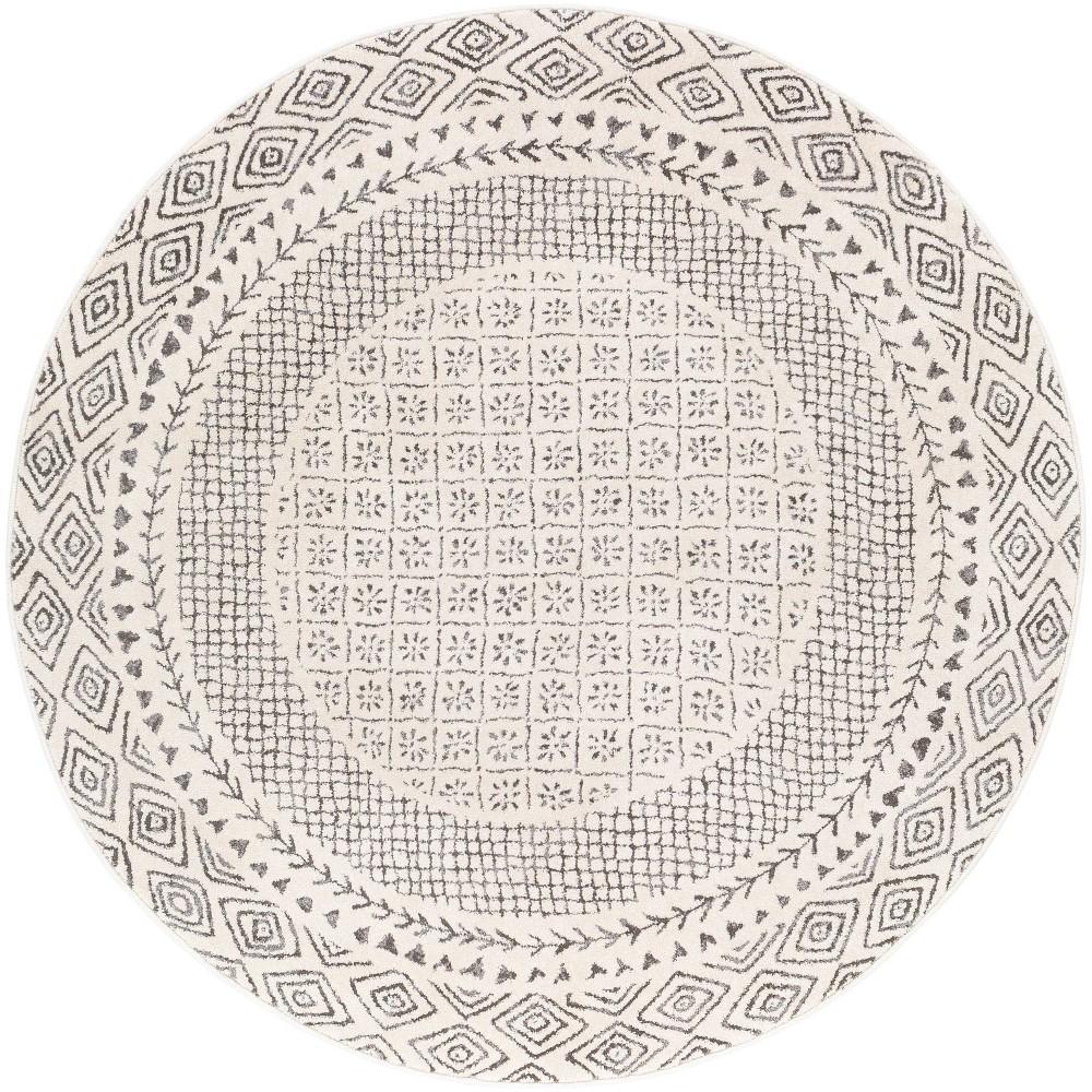 5 39 3 34 Round Devonshire Global Rugs Cream Artistic Weavers