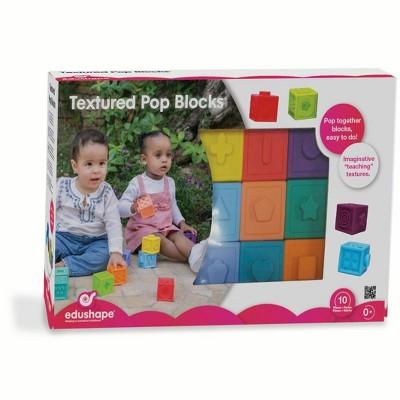 Edushape Snap Texture Sensory Blocks, 10 Pieces