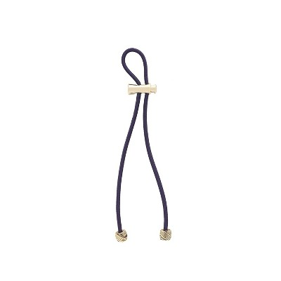 Pulleez Plus 11 inch Gold Knot Metal Charms on a Navy Elastic Hair Tie, 1 each