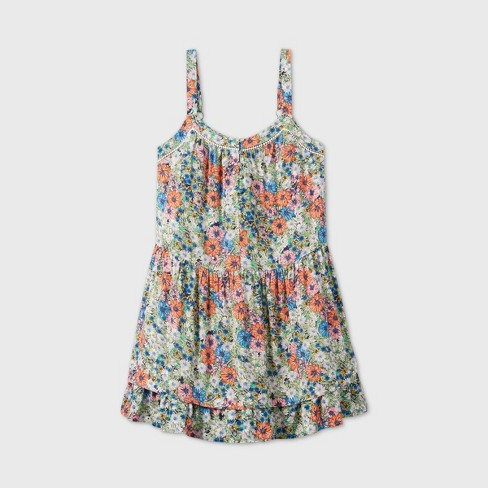 Women's Button-Front Tiered Trapeze Dress - Wild Fable™ - image 1 of 3