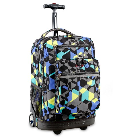 J World Sundance Laptop Rolling Backpack - Cubes - image 1 of 7