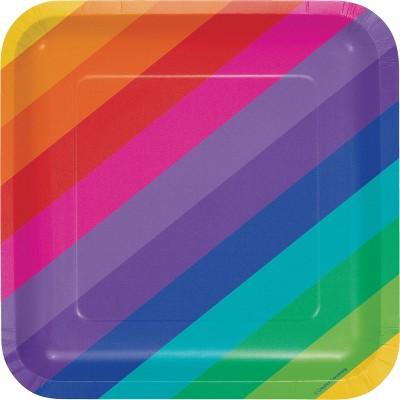 24ct Rainbow Paper Plates