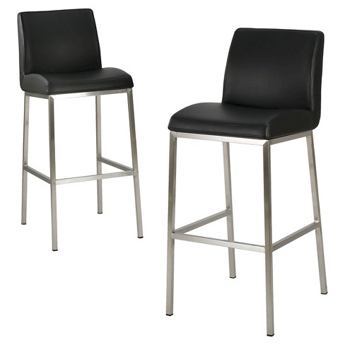 "Vasos Bonded Leather 30"" Barstool Set 2ct - Christopher Knight Home - image 1 of 4"